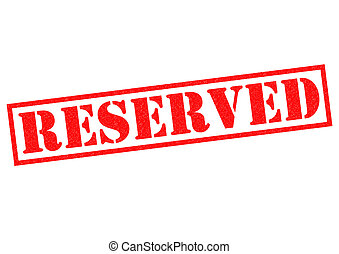 RESERVED red Rubber Stamp over a white background
