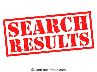 SEARCH RESULTS red Rubber Stamp over a white background.