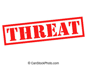 THREAT red Rubber Stamp over a white background