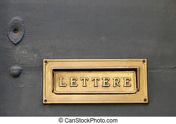 Old Italian letter box - Details of an old Italian letter...