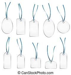 hangtag collection silver and blue - collection of different...