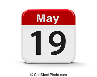 19th May - Calendar web button - The Nineteenth of May,...