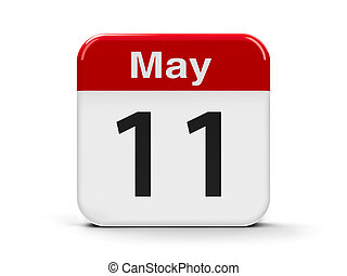 11th May - Calendar web button - The Eleventh of May,...