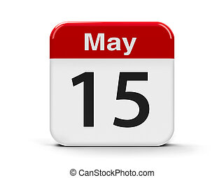 15th May - Calendar web button - The Fifteenth of May -...