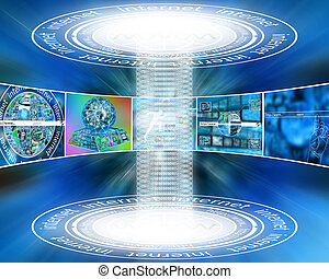 data transfer - Many abstract images on the theme of...