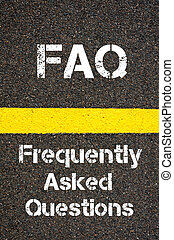 Business Acronym FAQ Frequently Asked Questions - Concept...