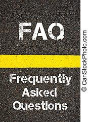 ビジネス, 頭字語,  faq, 質問,  frequently, 尋ねられた