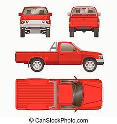 car pickup truck vector illustration - Pickup truck vector...