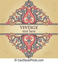 Template with ethnic vintage element.
