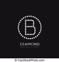 B letter with diamonds - B Letter with diamonds. Expensive,...