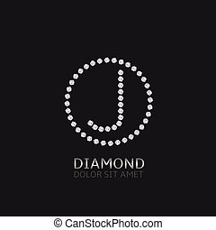 J letter with diamonds