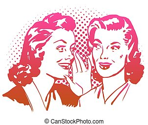 Vintage Gossip Girls Artwork.