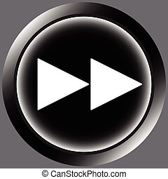 Icon black rewind symbol forward - Button icons with a...