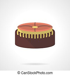 Foot stool flat color design vector icon