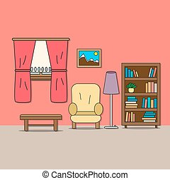 Design of room - sitting room. - Design of room - sitting...