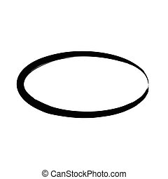 Grunge vector frame oval shape. Ink oval frame. An old...