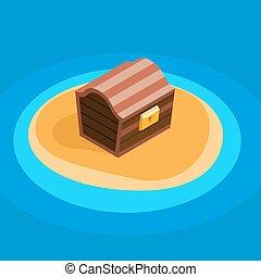 Treasure chest vector icon