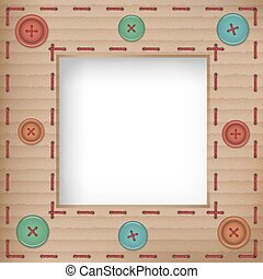 Scrapbooking vintage cardboard frame, vector illustation