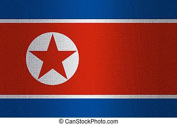 Flag of North Korea on stone - Flag of North Korea on a...