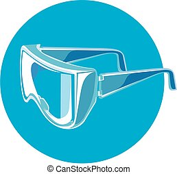 Vector safety glasses - Vector illustration of a Personal...