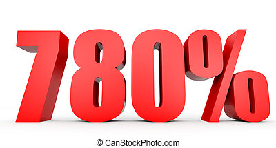 Discount 780 percent off. 3D illustration. - Discount 780...