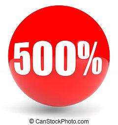Discount 500 percent off. 3D illustration. - Discount 500...