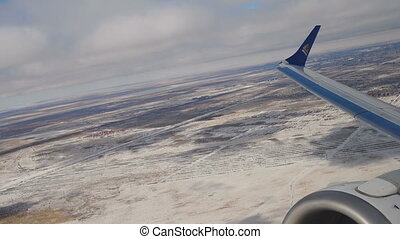 Airplane departure from Astana - ASTANA, KAZAKHSTAN - MARCH...