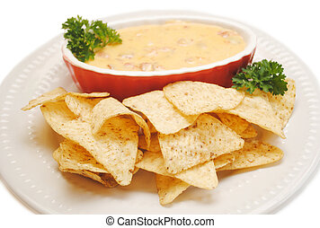 Tortilla Chips with Nacho Dip