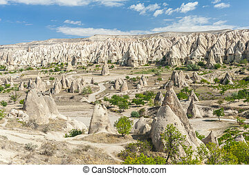 Goreme - Spectacular teeth-like rock formation near Goreme,...