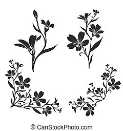 Chickweed graphic flower silhouettes - Chickweed Tomentosum...