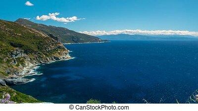 4K, Zeit, FEHLER, Strand, Ansicht, an, Nonza, Korsika,