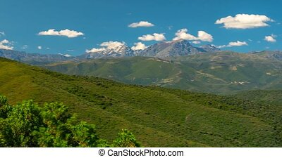 4K, Time Lapse, Mountain Range at Urtaca, Corsica - Very...