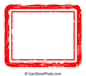 Used red stamp - Blank used red stamp isolated on white...