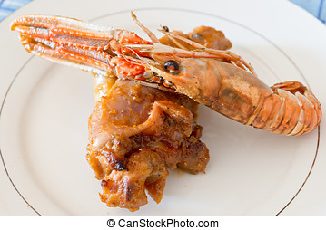 Trotters with Nephrops norvegicus - Recipe trotters with...