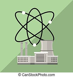nuclear plant design, industry and factory concept - Nuclear...
