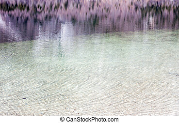 reflection in The Bohinj Lake can be used as background