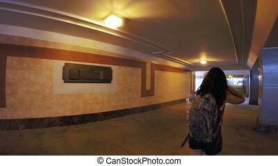 Girl in subway underground