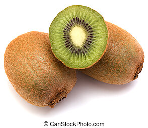 kiwi fruit isolated on white background