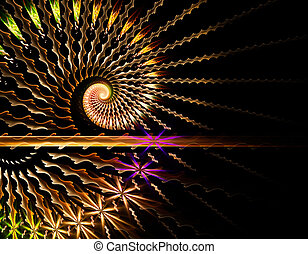 Abstract fractal illustration for creative design - Abstract...
