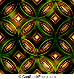 Seamless Texture stained-glass window 3D illustration -...