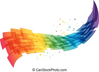 Abstract motion background, geometric colorful wave