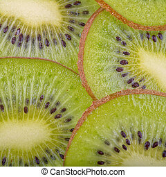 Beautiful kiwi fruit slices background