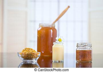 miel, organique, produits, abeille