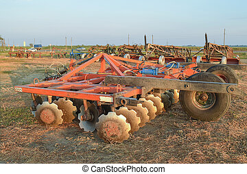 The disk harrow Agricultural machinery for processing of the...