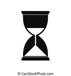 Hourglass icon in simple style