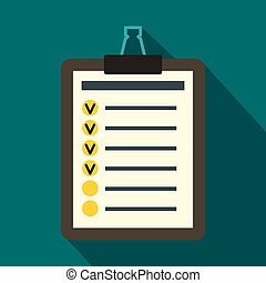 To do list icon, flat style - To do list icon in flat style...