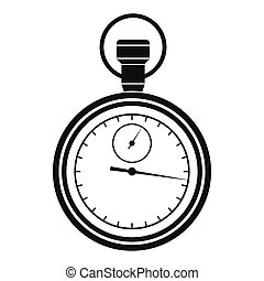 Stopwatch icon in simple style on a white background