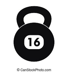 Kettlebell icon in simple style