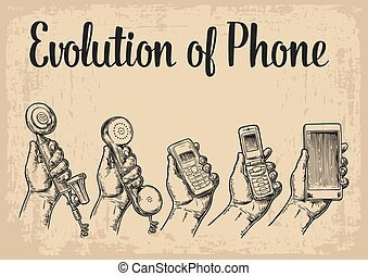 Evolution communication devices from classic phone to modern mobile