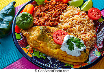 Chili relleno chili peppers filled with cheese